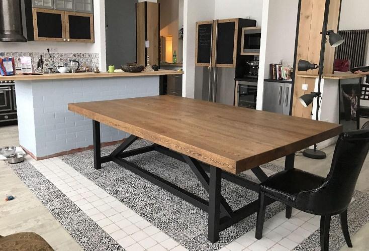 Обеденный стол в стиле лофт S001