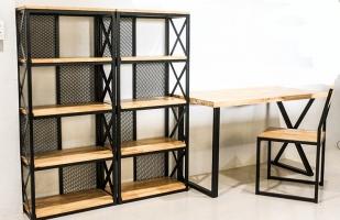 Cтеллажы лофт, изготовление дизайнерских металлических стеллажей в стиле лофт по вашим размерам на заказ