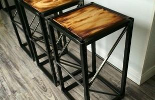 Изготовление дизайнерских стульев в стиле лофт по вашим размерам на заказ.