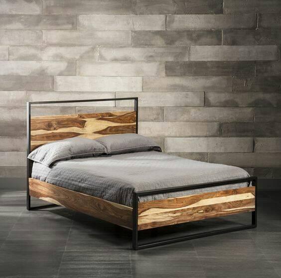 Кровать в стиле лофт K003