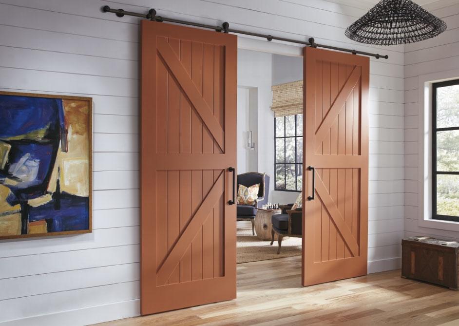 Амбарные двери в стиле лофт D015