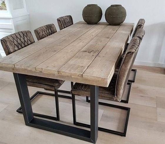 Обеденный стол в стиле лофт S004