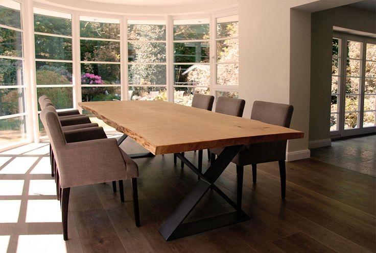 Обеденный стол в стиле лофт S007