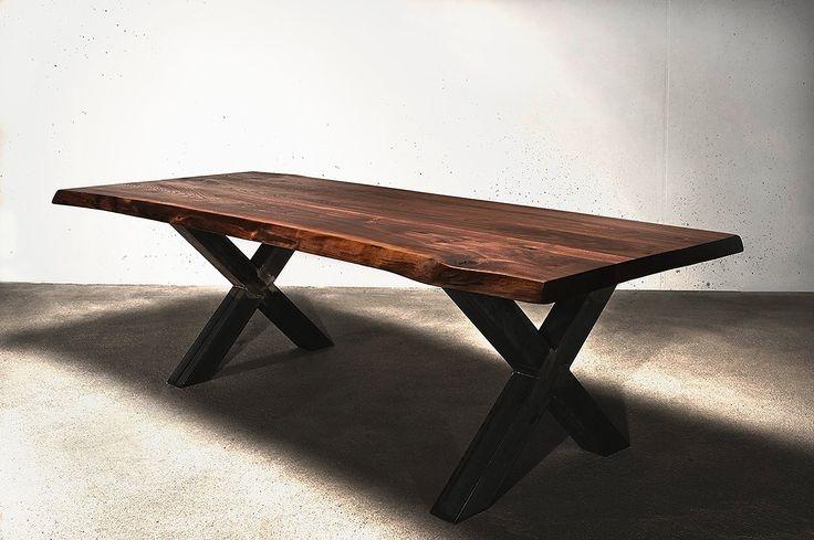 Обеденный стол в стиле лофт S011