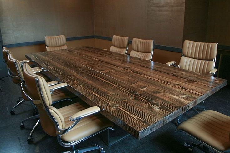 Обеденный стол в стиле лофт S013