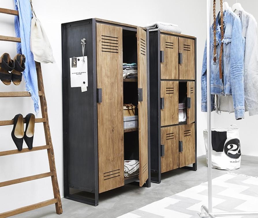 Шкаф в стиле лофт 011