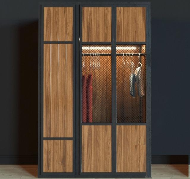 Шкаф в стиле лофт 013