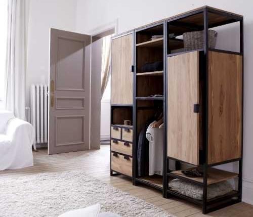 Шкаф в стиле лофт 002
