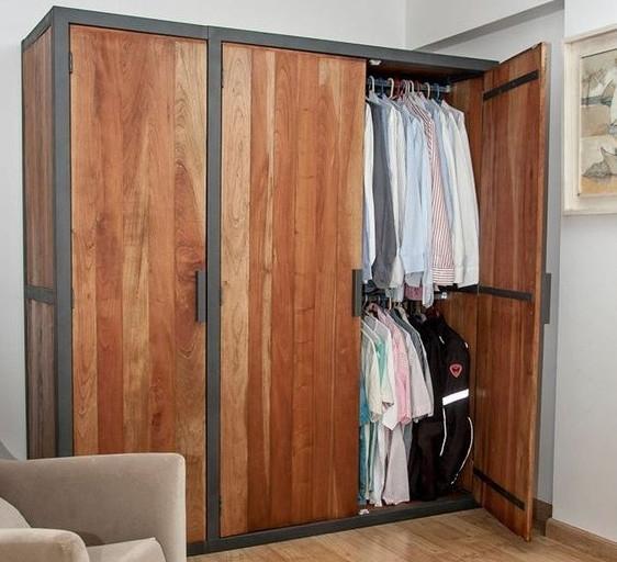Шкаф в стиле лофт 007