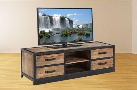 ТВ тумба в стиле лофт 007