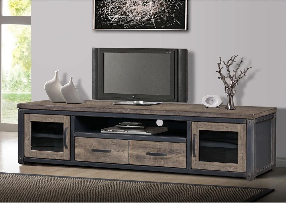 ТВ тумба в стиле лофт 003