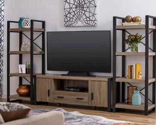 ТВ тумба в стиле лофт 001
