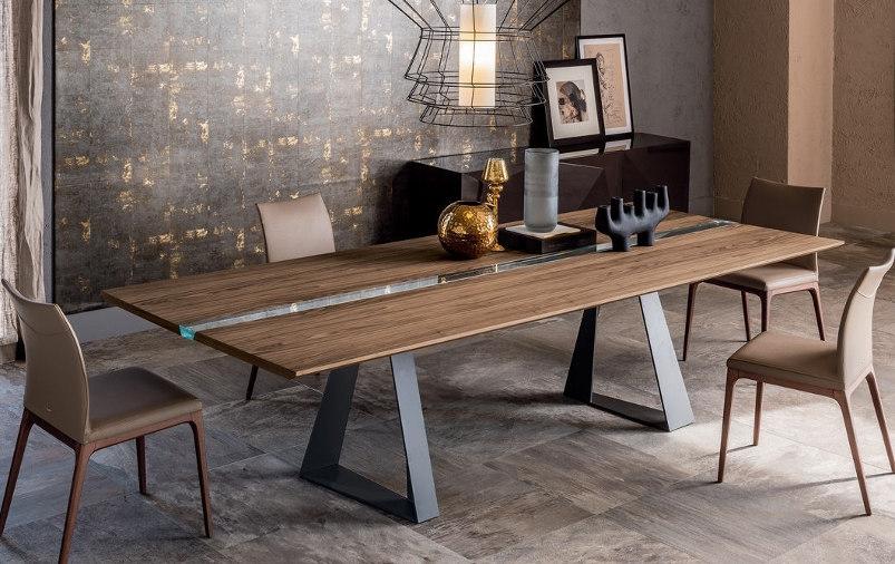Обеденный стол в стиле лофт S005