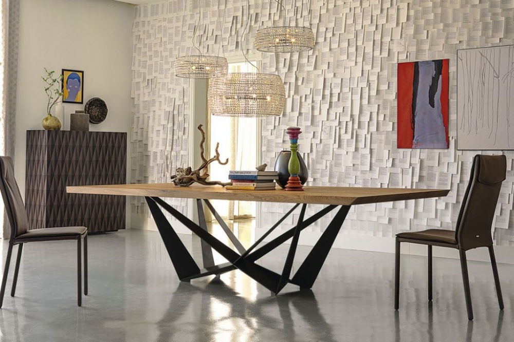 Обеденный стол в стиле лофт S019