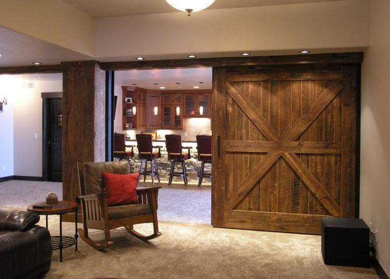 Амбарные двери в стиле лофт D002