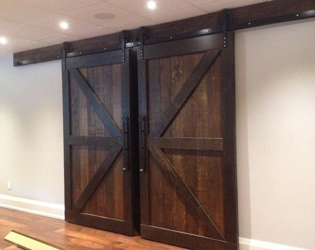 Амбарные двери в стиле лофт D003