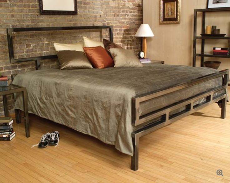 Кровать в стиле лофт K005