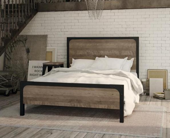 Кровать в стиле лофт K019